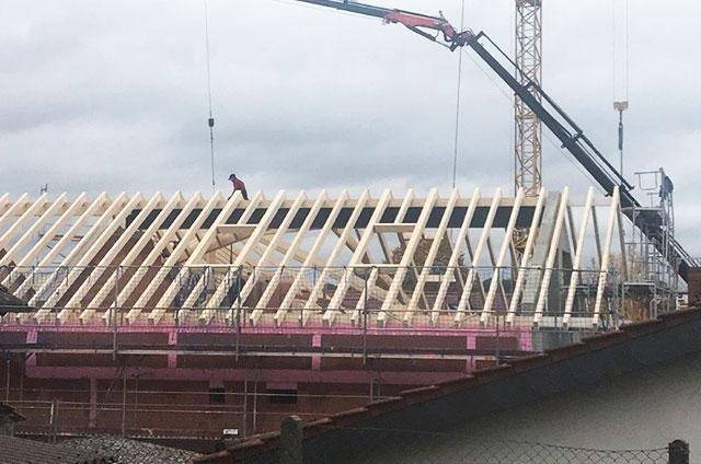 Dachstuhl Bauarbeiten Scheune