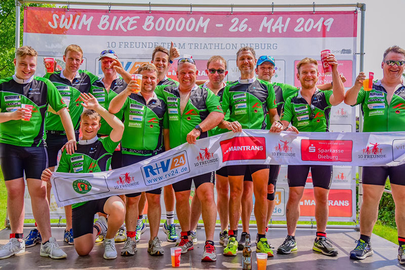 10 Freunde Triathlon Hamburg Team Dachhasen